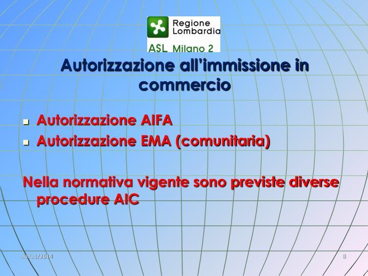 Autorizzazione all'immissione in commercio