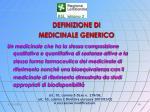 definizione di medicinale generico