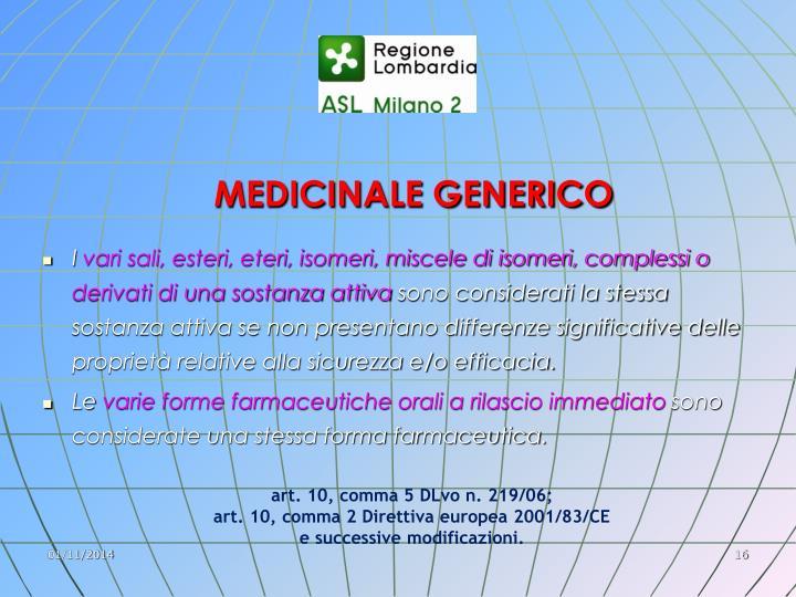 MEDICINALE GENERICO