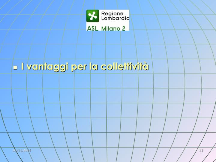 I vantaggi per la collettività