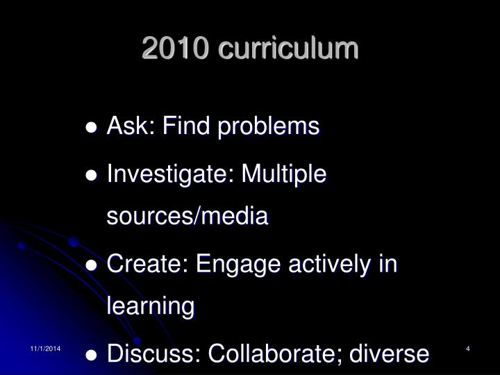 2010 curriculum
