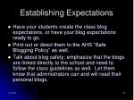 establishing expectations