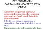 performansin saptanmasinda testler n nem