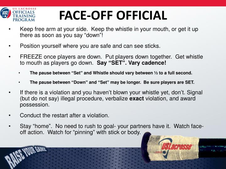 FACE-OFF OFFICIAL