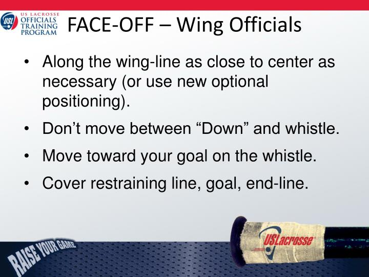 FACE-OFF – Wing Officials