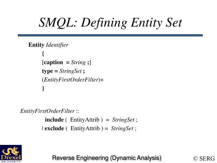 SMQL: Defining Entity Set