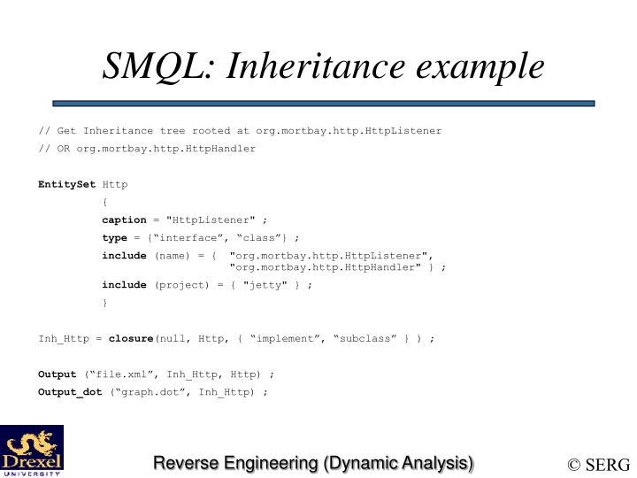 SMQL: Inheritance example