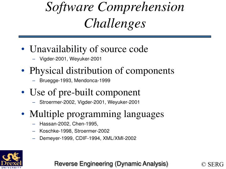 Software Comprehension Challenges