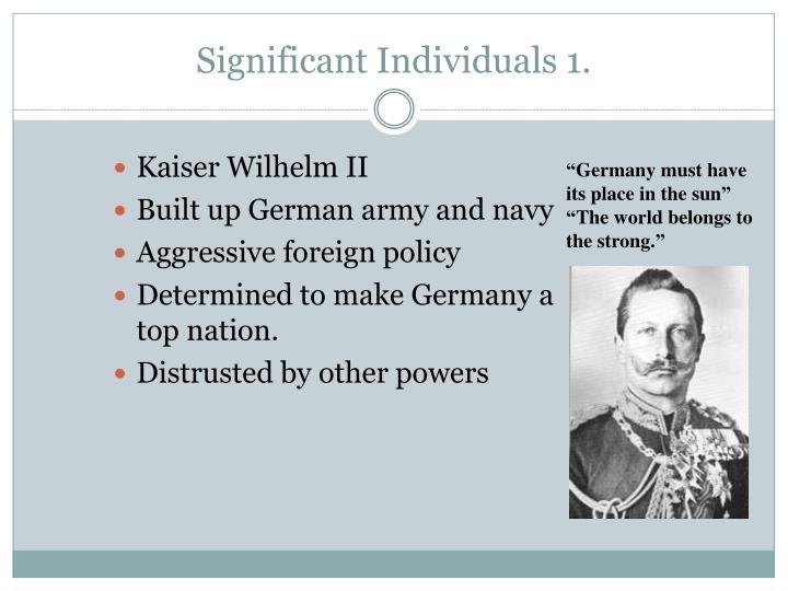 Significant Individuals 1.