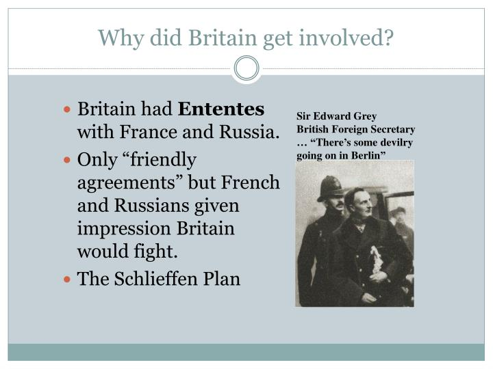 Why did Britain get involved?