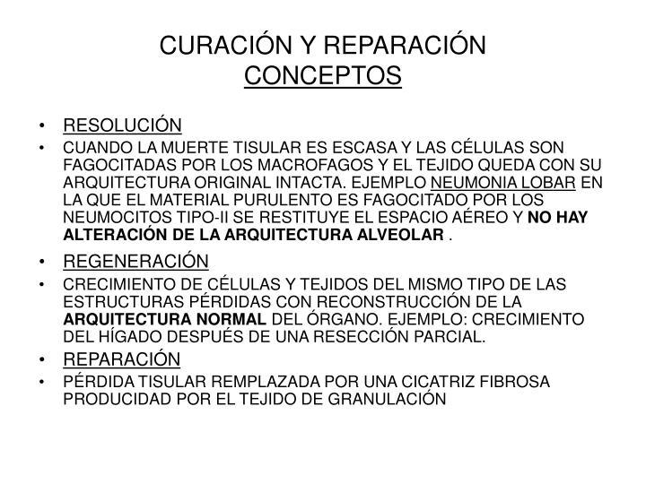 CURACIÓN Y REPARACIÓN