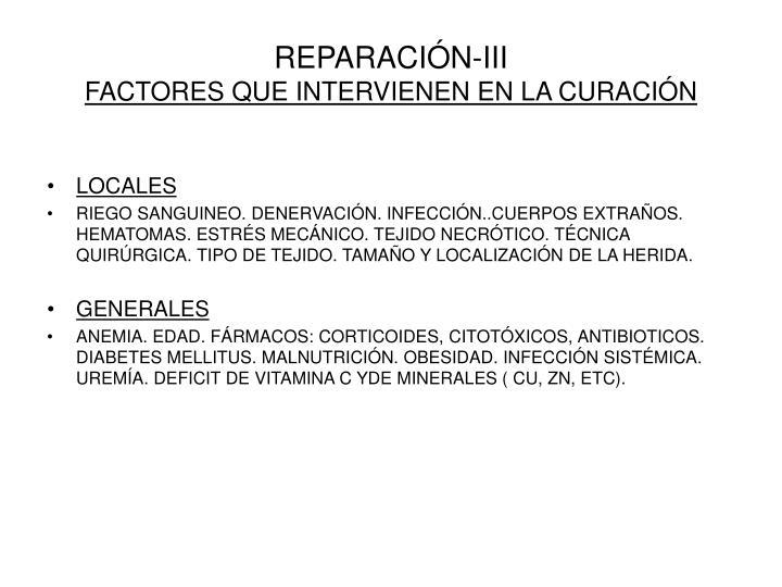 REPARACIÓN-III