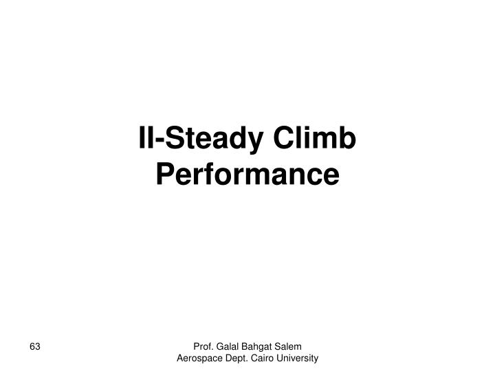 II-Steady Climb Performance