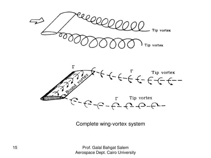 Complete wing-vortex system