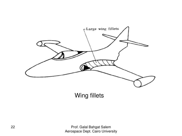 Wing fillets