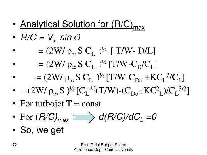 Analytical Solution for (R/C)
