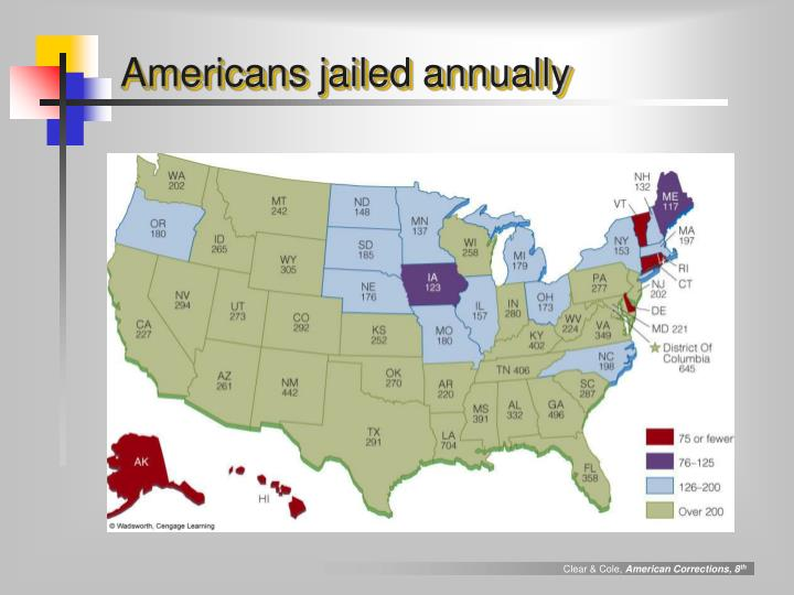 Americans jailed annually