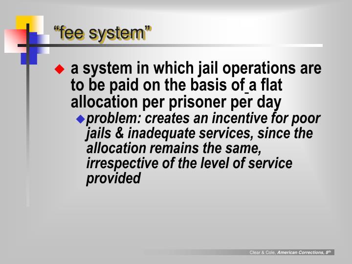"""fee system"""