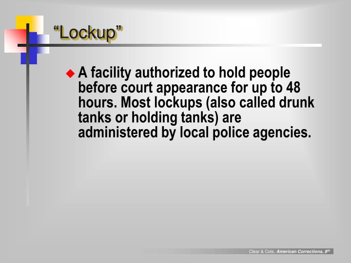 """Lockup"""