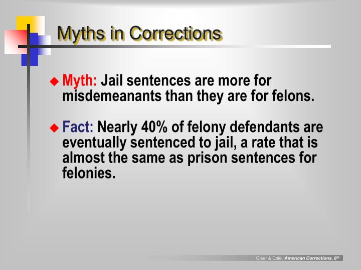 Myths in Corrections