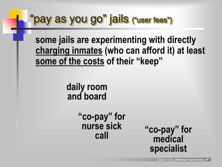 """pay as you go"" jails"