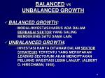 balanced vs unbalanced growth