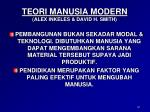 teori manusia modern alex inkeles david h smith