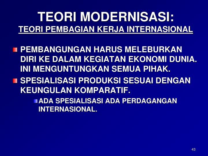 TEORI MODERNISASI:
