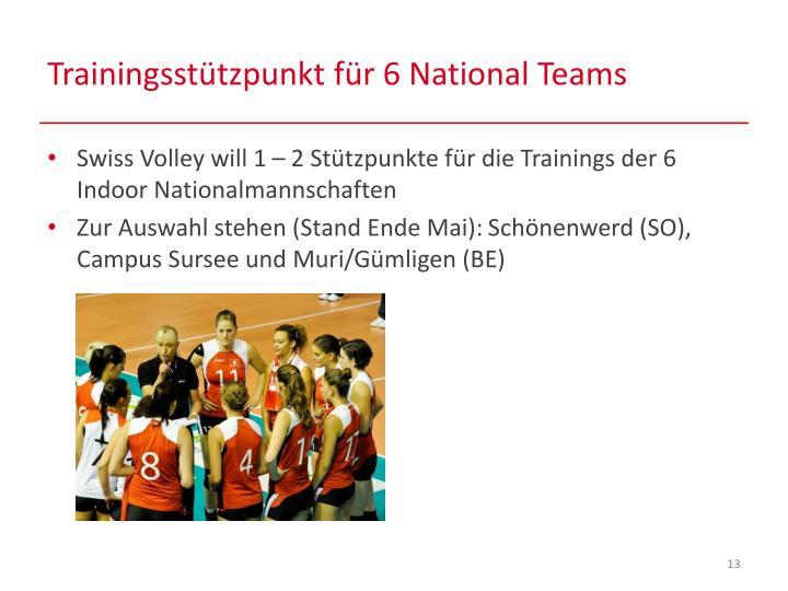Trainingsstützpunkt für 6 National Teams