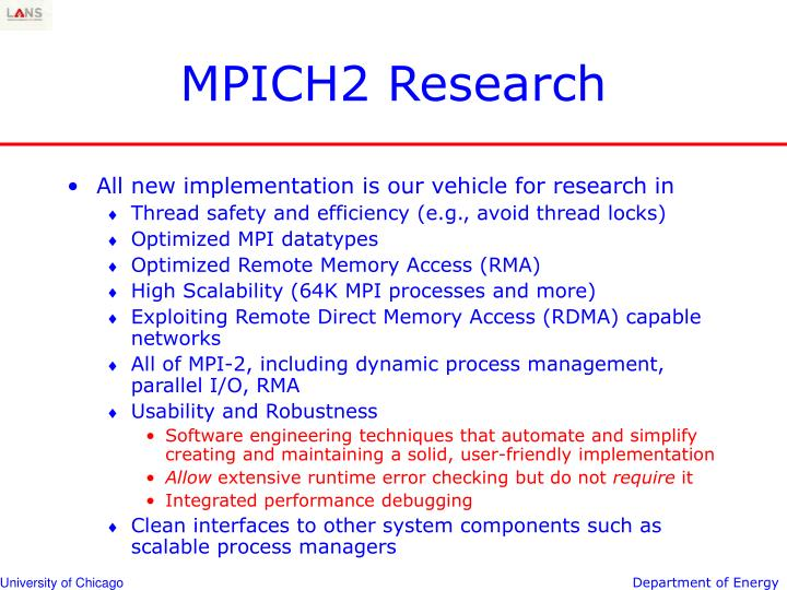 MPICH2 Research