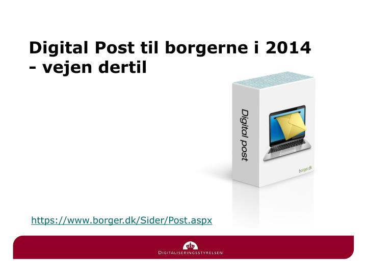 Digital Post til borgerne i 2014