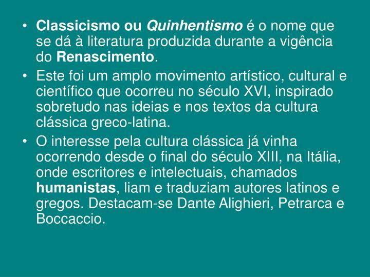 Classicismo ou