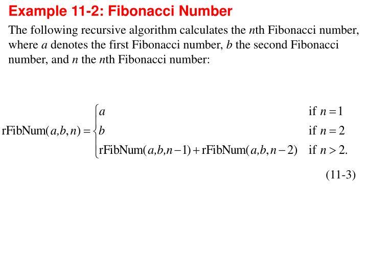 Example 11-2: Fibonacci Number