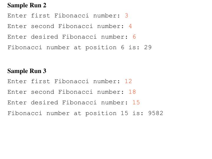 Sample Run 2