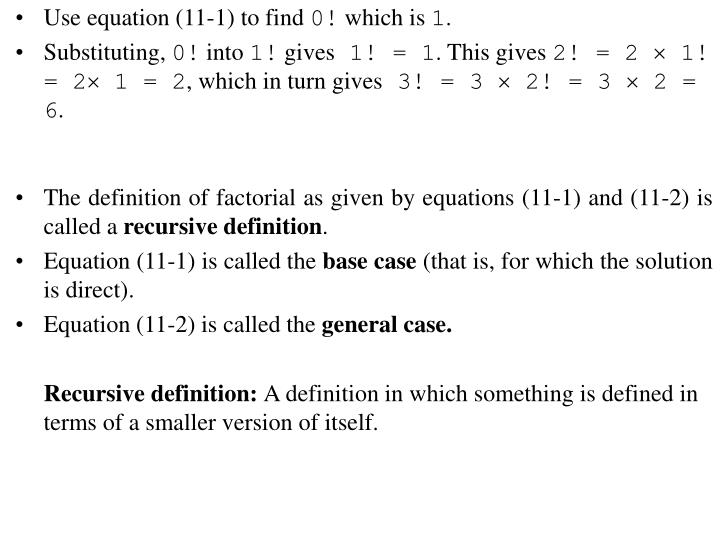 Use equation (11-1) to find