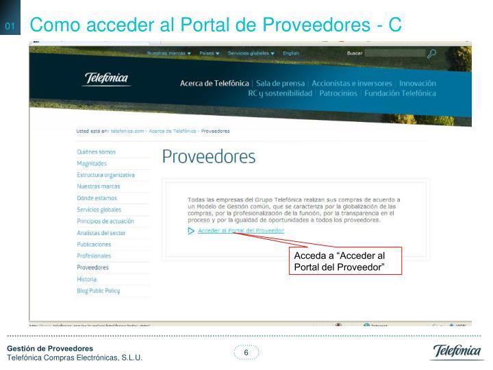 Como acceder al Portal de Proveedores - C