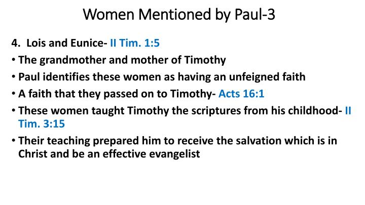 Women Mentioned by Paul-3