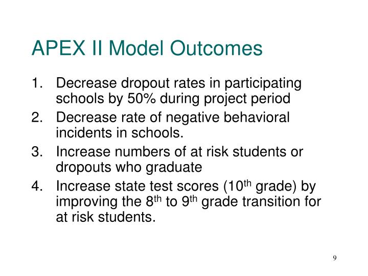 APEX II Model Outcomes