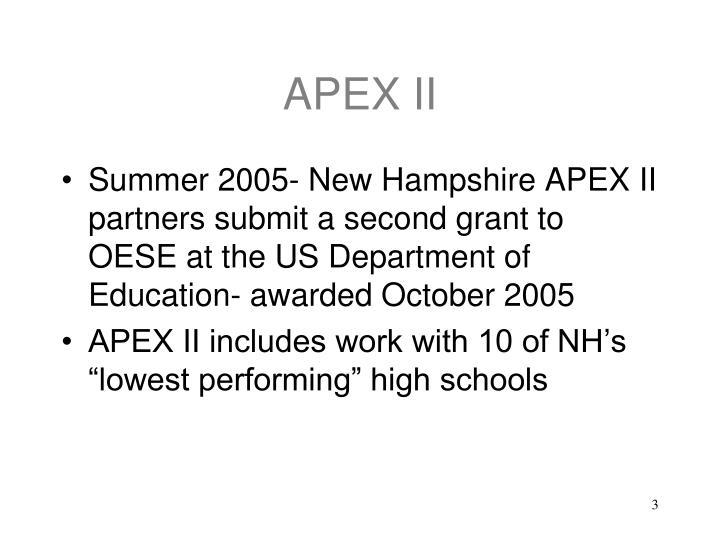 APEX II