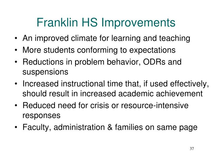 Franklin HS Improvements