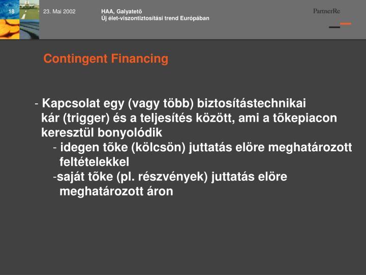 HAA, Galyatetõ                                                 Új élet-viszontiztosítási trend Európában