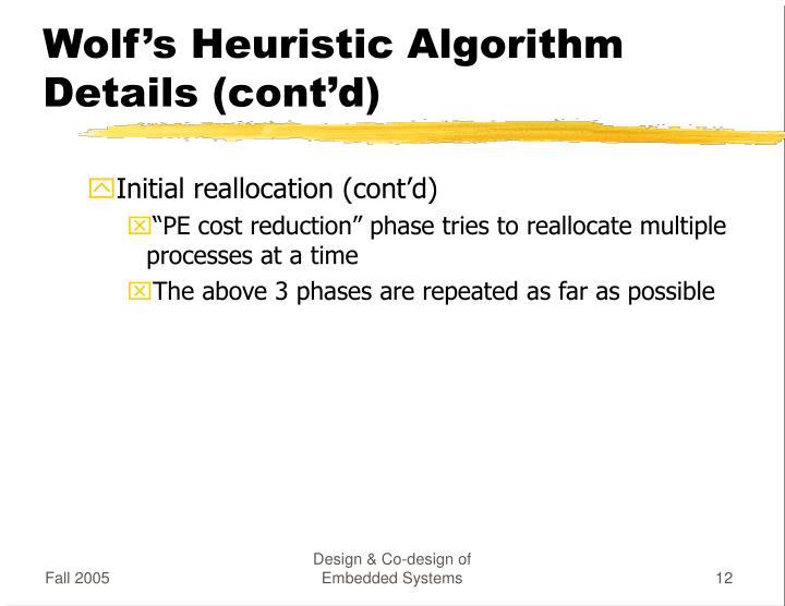 Wolf's Heuristic Algorithm Details (cont'd)
