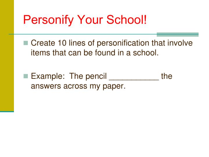 Personify Your School!