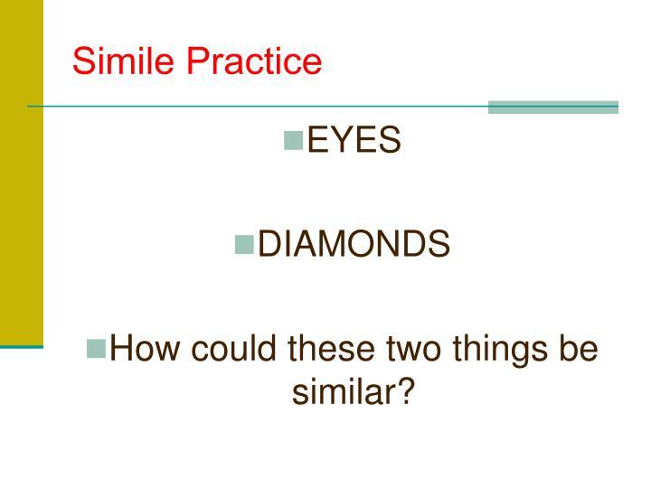 Simile Practice