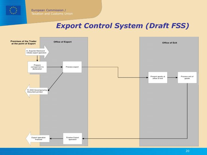 Export Control System (Draft FSS)