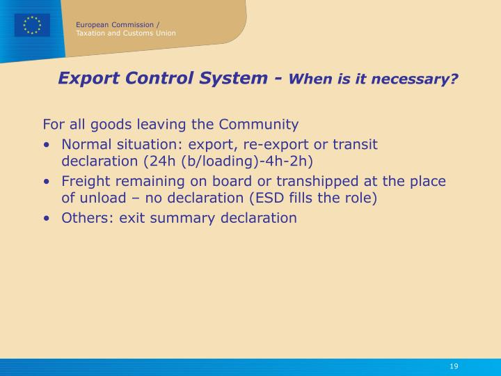 Export Control System -