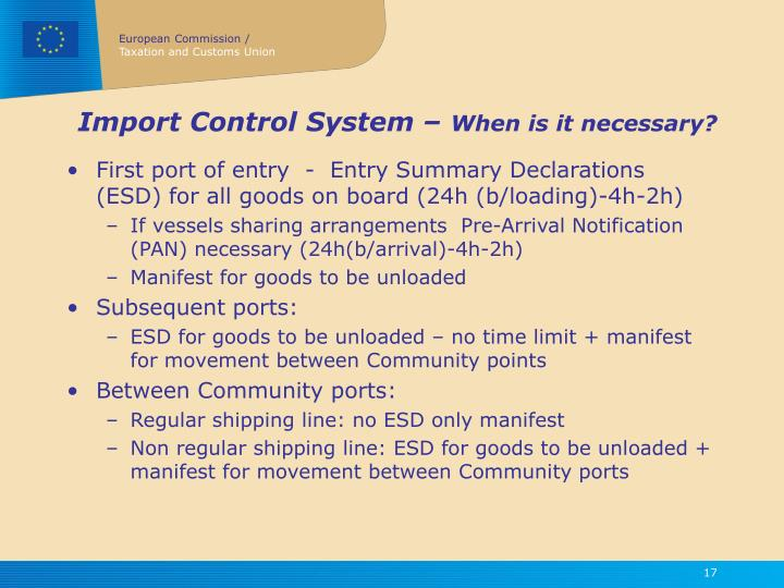 Import Control System –