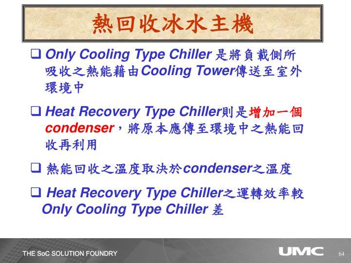 熱回收冰水主機