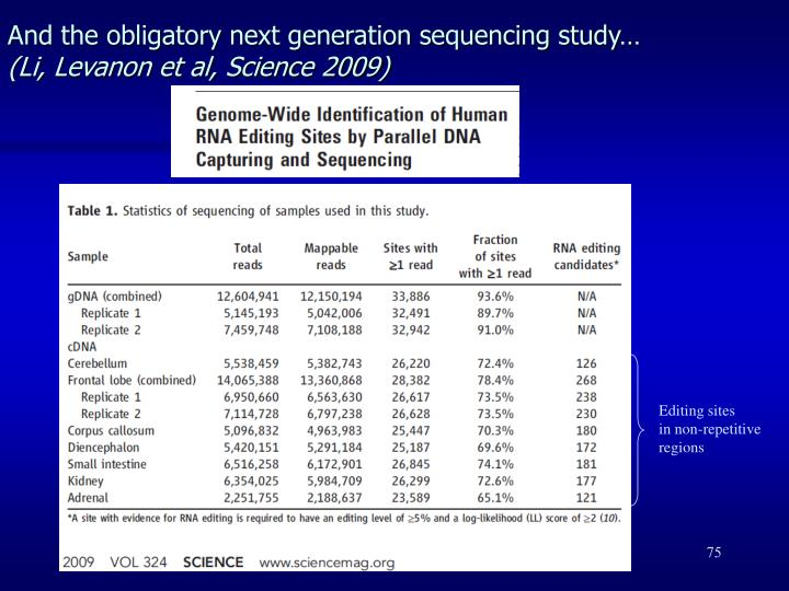 And the obligatory next generation sequencing study…