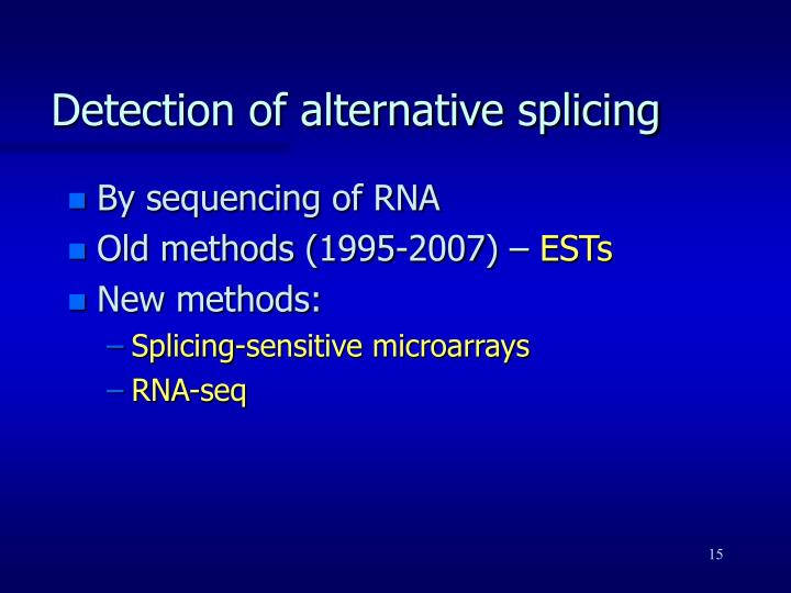 Detection of alternative splicing